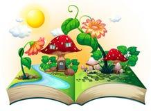 Pilzhausbuch stock abbildung