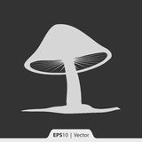 Pilzikone für Netz und Mobile Lizenzfreies Stockbild