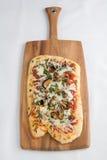 Pilzpizza Stockbild