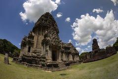 Pimai城堡、历史公园和古老城堡在泰国 免版税库存照片