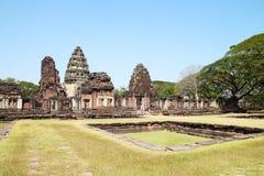 Pimai城堡,一座古老城堡在泰国 库存图片