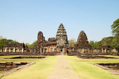 Pimai Castle, a ancient castle in Thailand Royalty Free Stock Photo
