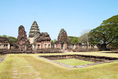 Pimai Castle, a ancient castle in Thailand Stock Image