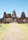 Pimai castle and stone walkway Royalty Free Stock Images