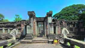 Pimai-Schloss pimai Schloss im Thailand-Grünbaum lizenzfreie stockfotografie