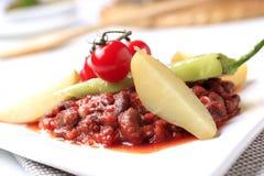 Pimentão do feijão vermelho do vegetariano imagem de stock royalty free