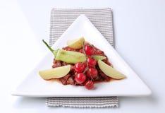 Pimentão do feijão vermelho do vegetariano imagem de stock