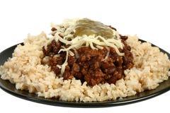 Pimentão e arroz orgânicos imagens de stock