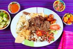 Pimentão mexicano do prato do bife de flanco da carne de Arrachera imagem de stock royalty free