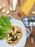 Pimentão secado espaguetes Fotografia de Stock