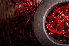 Pimentão secado vermelho Fotos de Stock Royalty Free