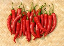Pimentões quentes Imagens de Stock