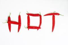 Pimentões quentes imagens de stock royalty free