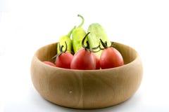 Pimentões, vegetal, abobrinha vegetal, tabuletas coloridas Fotos de Stock