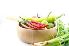 Pimentões, vegetal, abobrinha vegetal, tabuletas coloridas Fotografia de Stock