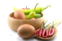 Pimentões, vegetal, abobrinha vegetal, tabuletas coloridas Imagem de Stock