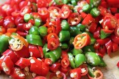 Pimentões vermelhos Foto de Stock