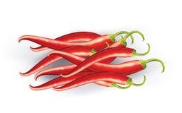 Pimentões vermelhos ilustração royalty free
