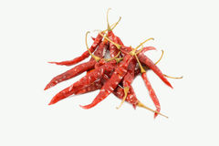Pimentões vermelhos secos Imagem de Stock