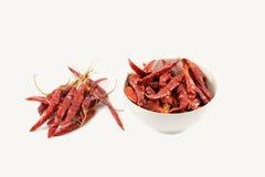 Pimentões vermelhos secos Imagens de Stock Royalty Free