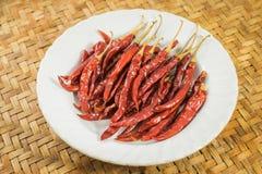 Pimentões vermelhos secos Foto de Stock Royalty Free