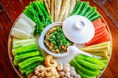 Piment avec des légumes Photo libre de droits