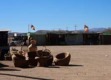 Piment de désert d'atacama de San Pedro De de vue de rue Photographie stock libre de droits