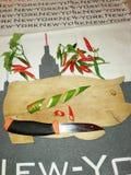 Piment fâché, milieux New York avec le piment image stock