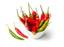 Piment fort rouge et vert Photo stock