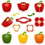Pimenta ajustada do ícone Imagens de Stock Royalty Free
