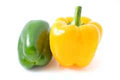 Pimenta amarela e verde fotografia de stock
