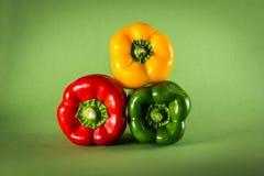 Pimenta amarela, vermelha e verde Foto de Stock Royalty Free