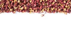 Pimenta chinesa de Sichuan no branco Imagens de Stock Royalty Free