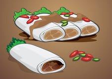 Pimenta da paprika do pimentão do petisco da farinha de trigo dos gêneros alimentícios dos doces enchida Imagens de Stock Royalty Free