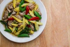 Pimenta de Bell, brócolis, aipo, desbastado, cozinhado Fotos de Stock