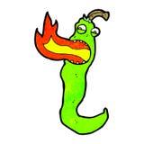 pimenta de pimentão de respiração do fogo dos desenhos animados Imagem de Stock