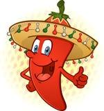 A pimenta de pimentão do Sombrero manuseia acima Fotografia de Stock Royalty Free