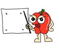 Pimenta de pimentão dos desenhos animados Foto de Stock Royalty Free