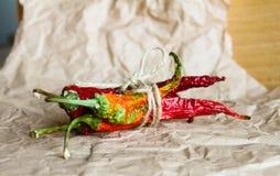 Pimenta de pimentão secada Foto de Stock Royalty Free