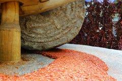 Pimenta de pimentão triturada fotografia de stock