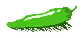Pimenta de pimentão verde ilustração royalty free