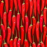 Pimenta de pimentão vermelha de pimenta de Caiena sem emenda Imagem de Stock