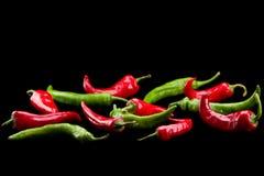 Pimenta de pimentão vermelha e verde Foto de Stock