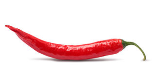 Pimenta de pimentão vermelho isolada Foto de Stock Royalty Free