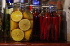 Pimenta de piment?o encarnado preservada imagem de stock royalty free