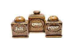 Pimenta de sal das especiarias Foto de Stock Royalty Free