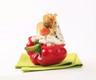 Pimenta de sino enchida queijo Fotografia de Stock