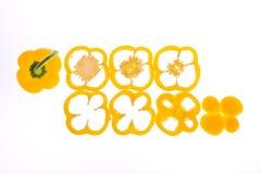 Pimenta doce amarela da fatia Imagens de Stock Royalty Free
