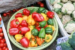 Pimenta doce e um outro vegetariano foto de stock royalty free