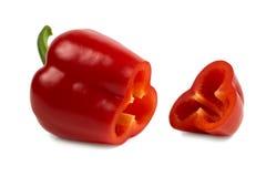 Pimenta doce vermelha do ut do ¡ de Ð isolada no fundo branco Imagem de Stock